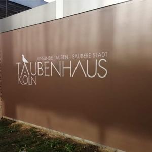 Taubenhaus am Hansaring Köln der Kölner Taubenhilfe