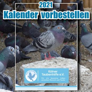 Kölner Taubenhilfe Kalenderbestellung