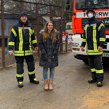 Feuerwehr Köln hilft Taubenhilfe